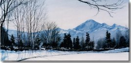 "Baker at Dawn - Spring"" ltd edition, paper 100 canvas 50 Image size 14x28"
