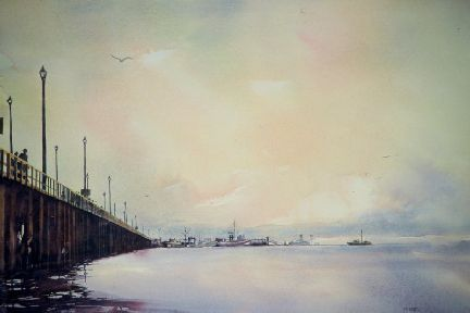 """The Pier at White Rock"" ltd. edition 50 image size 28x20"