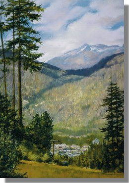 Up and Down at Whistler - commissioned art - Click for larger image in a new window